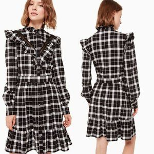 Kate Spade Rustic Plaid Flannel Dress.NEW.Size XS